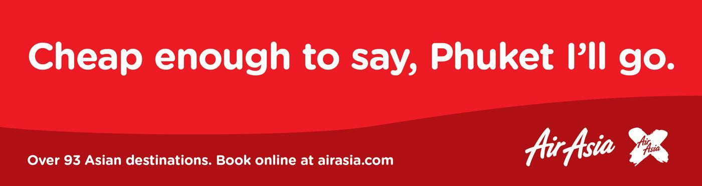 Air Asia Print Ad -  Phuket I'll go