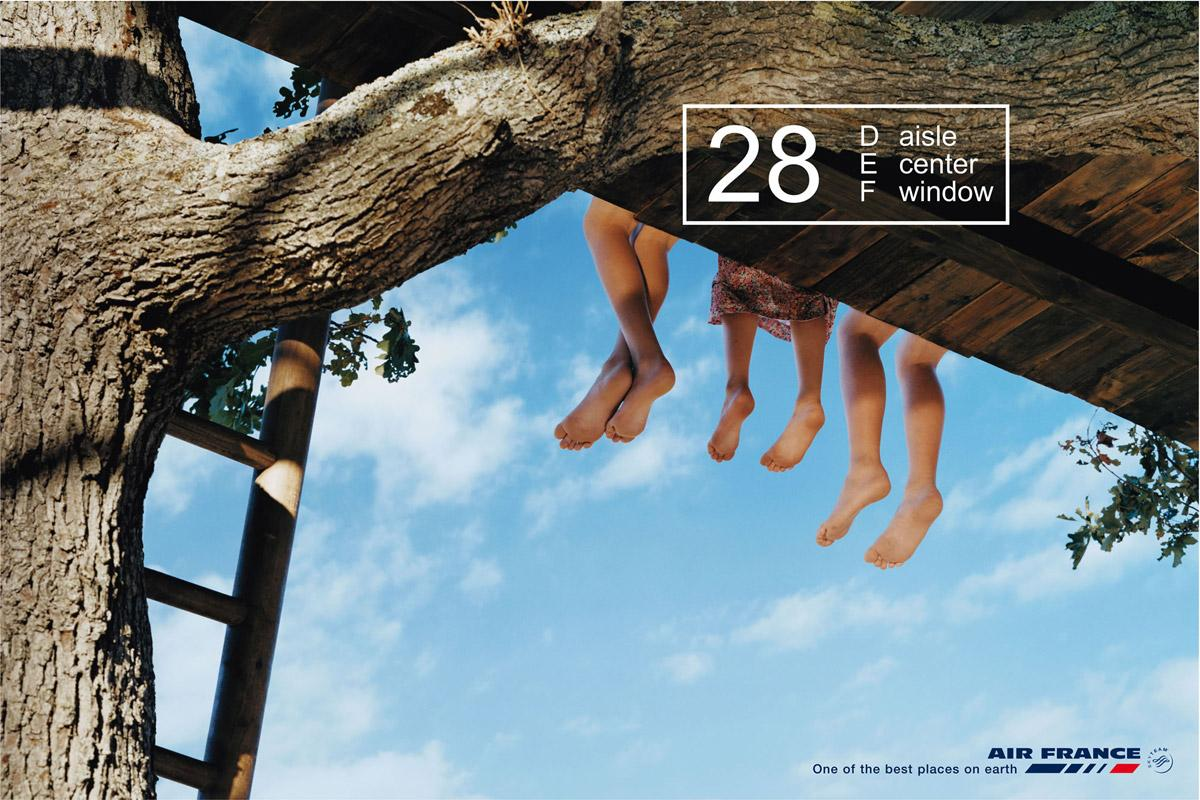 Air France Print Ad -  Tree house