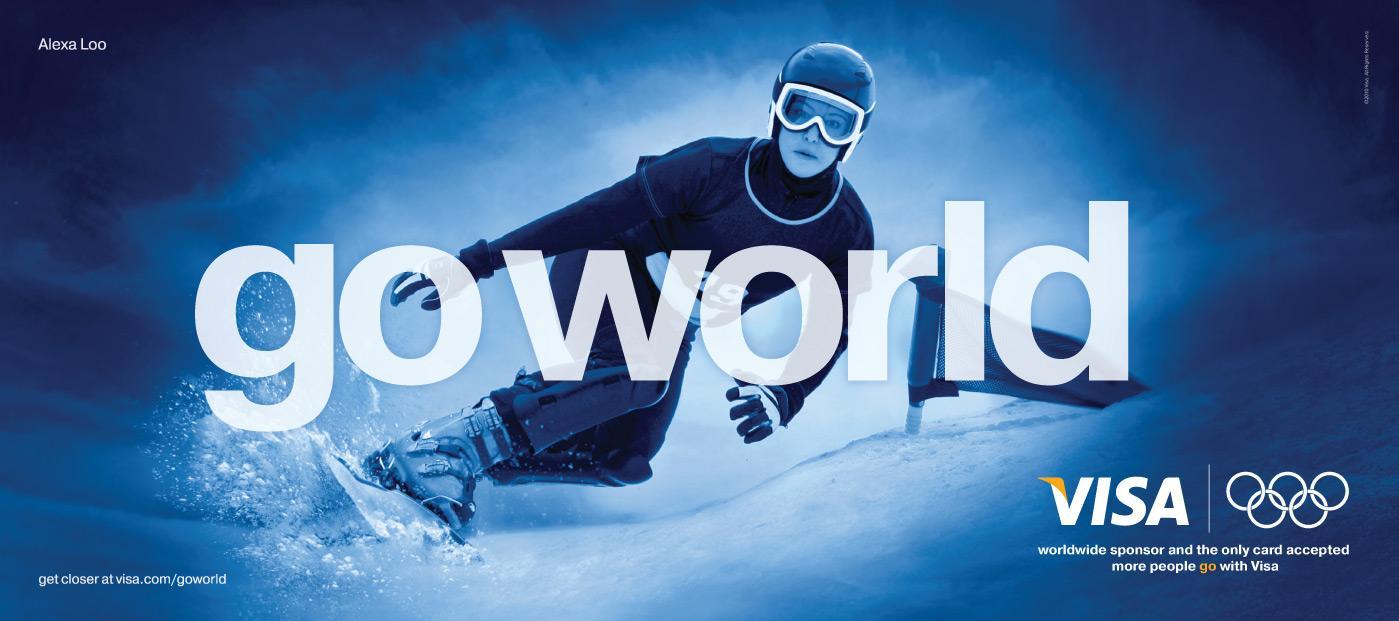 Visa Outdoor Ad -  Go World, Alexa Loo