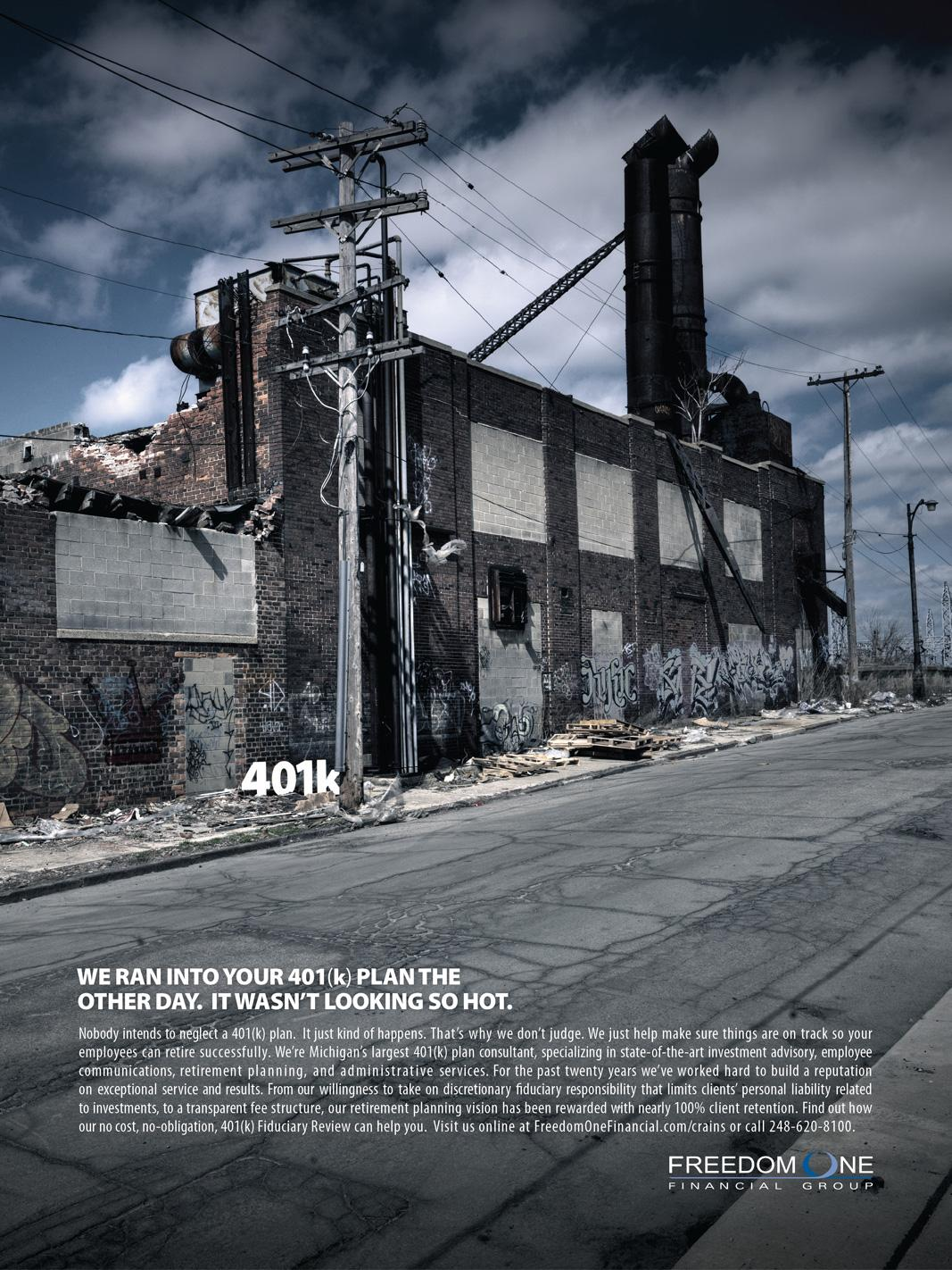 Freedom One Financial Print Ad -  Alley