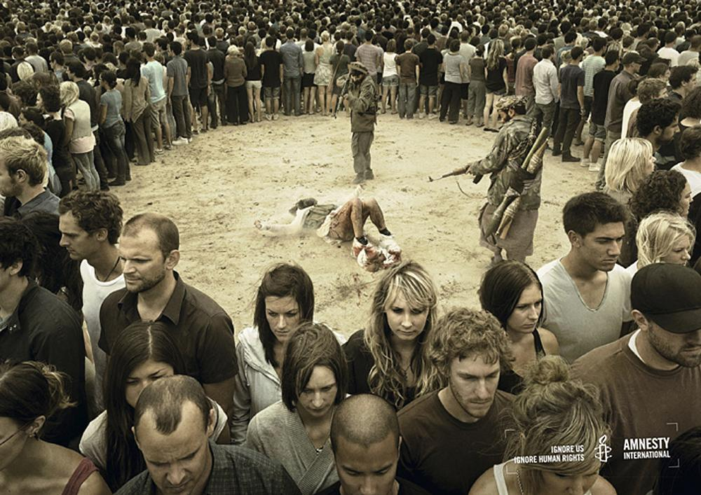 Amnesty International Print Ad -  Rebel soldiers