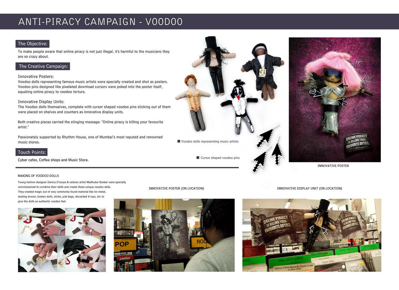 Rhythm House Ambient Ad -  Anti-Piracy Campaign Voodoo