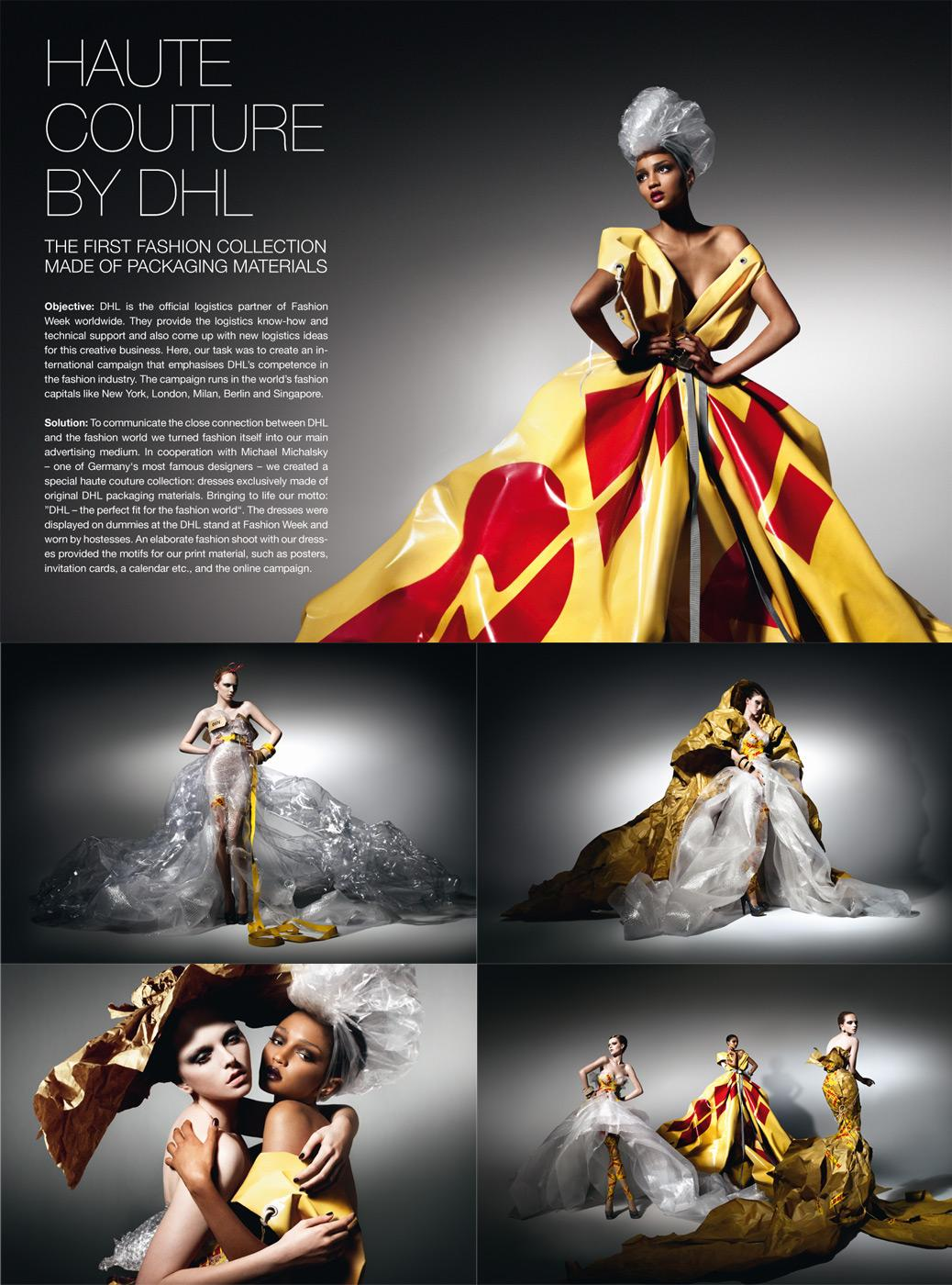 DHL Ambient Ad -  Haute Couture