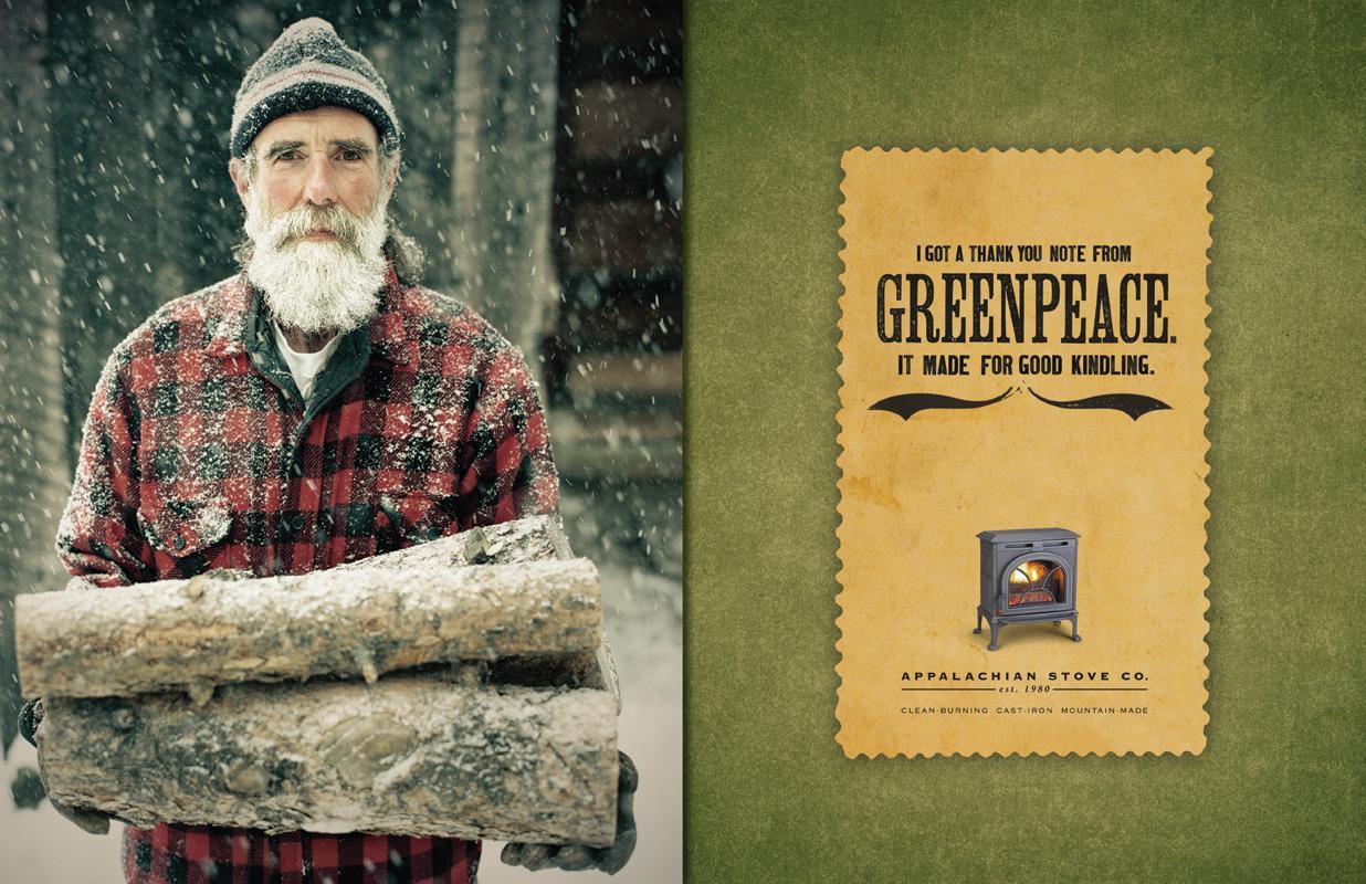 Appalachian Stove Print Ad -  Greenpeace