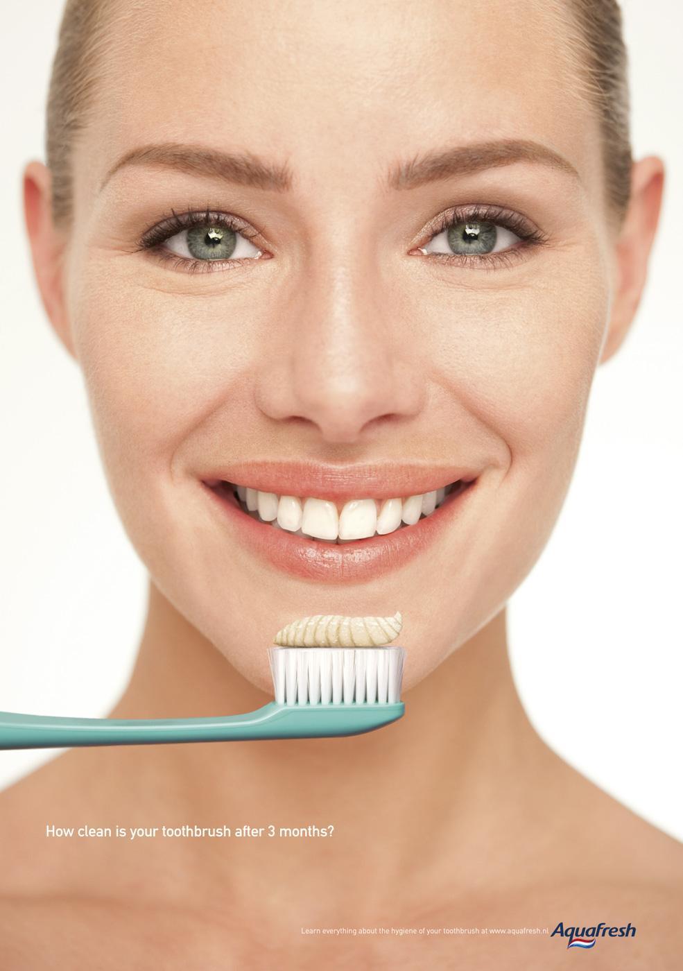 Aquafresh Print Ad -  Dirty toothbrush