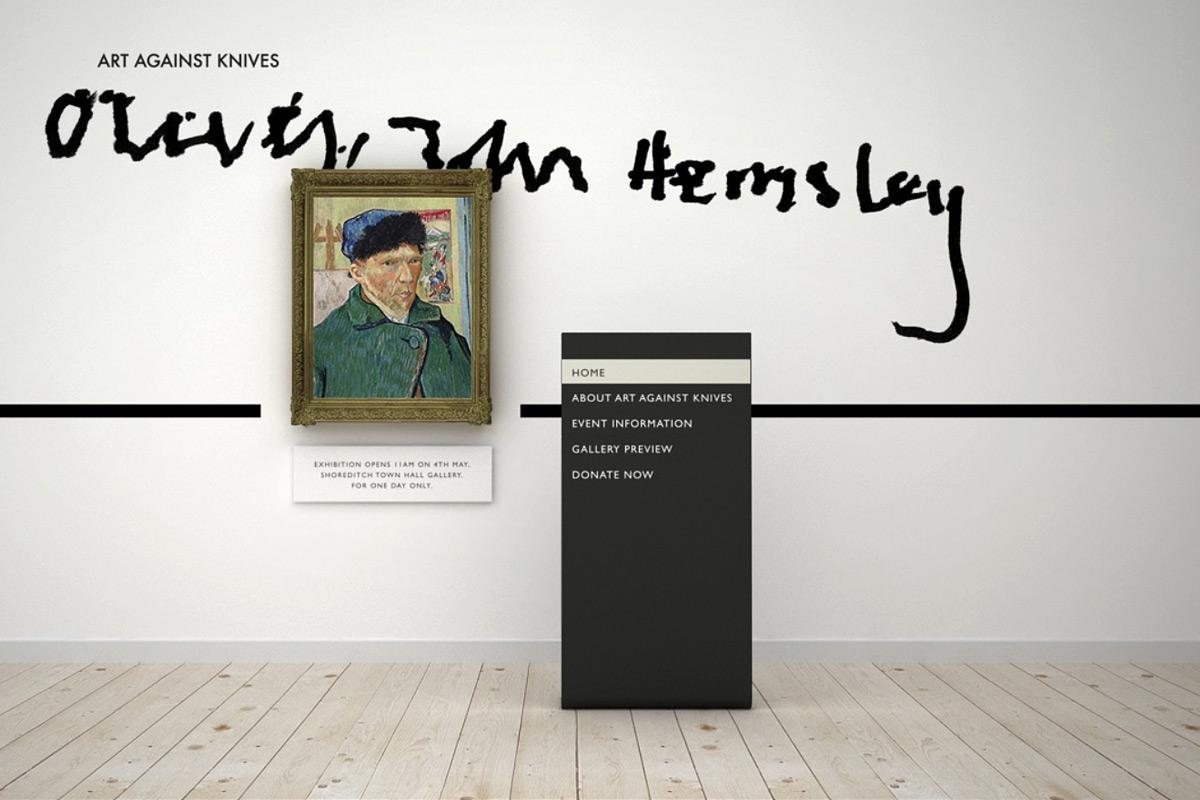 Art Against Knives Digital Ad -  Online exhibit