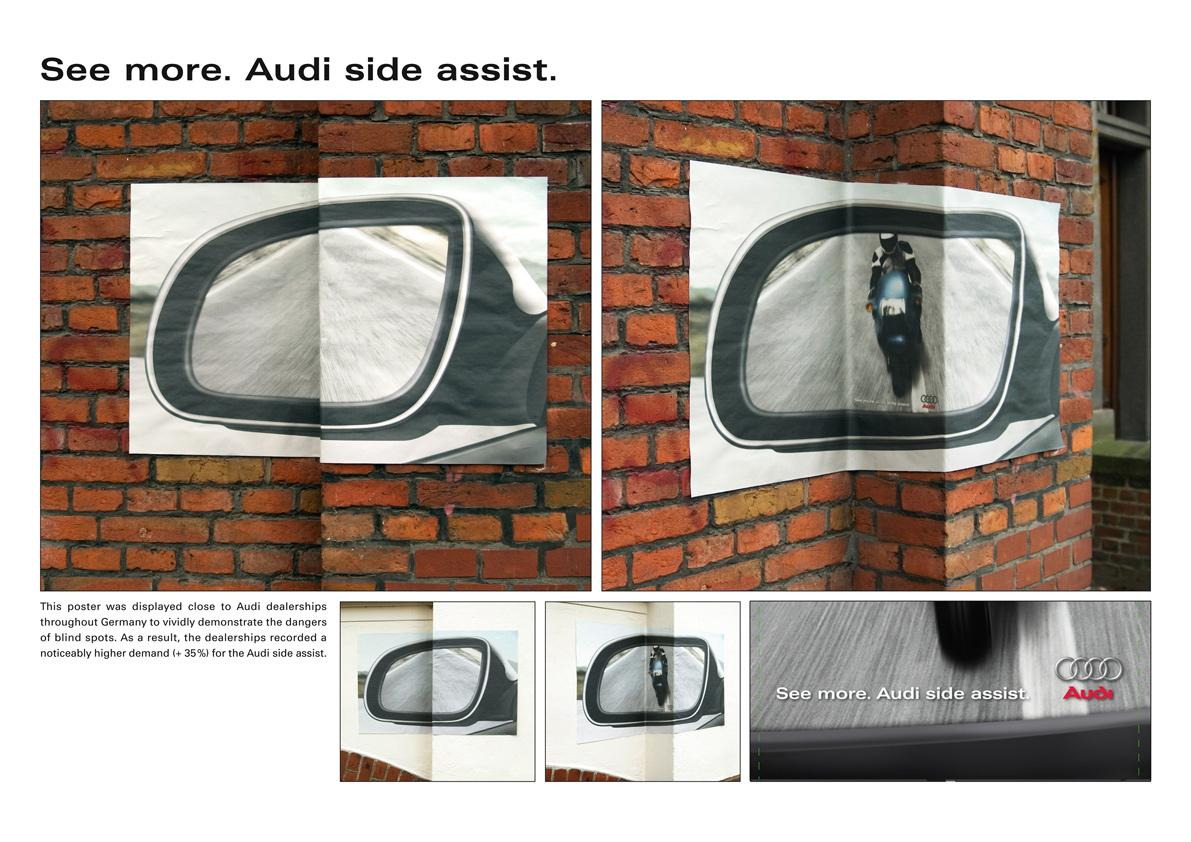 Audi Ambient Ad -  Blind spot