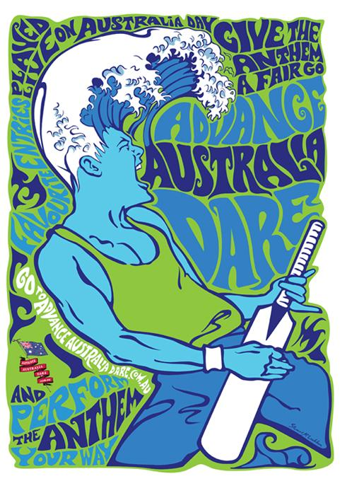 Australia Day Print Ad -  Surf