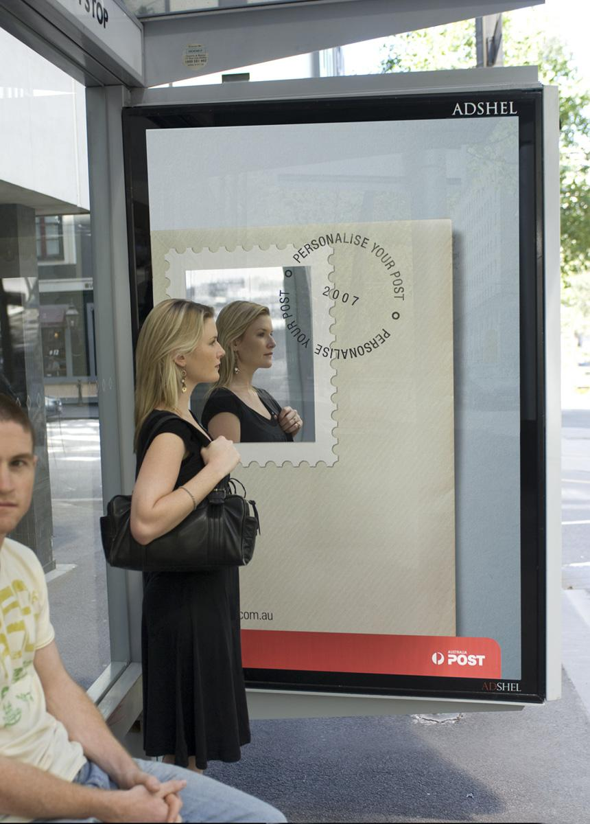 Australia Post Ambient Ad -  Bus stop
