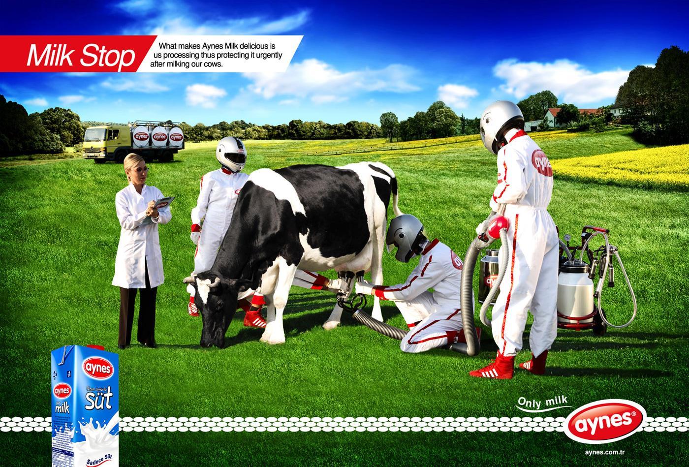 Aynes Print Ad -  Milk stop