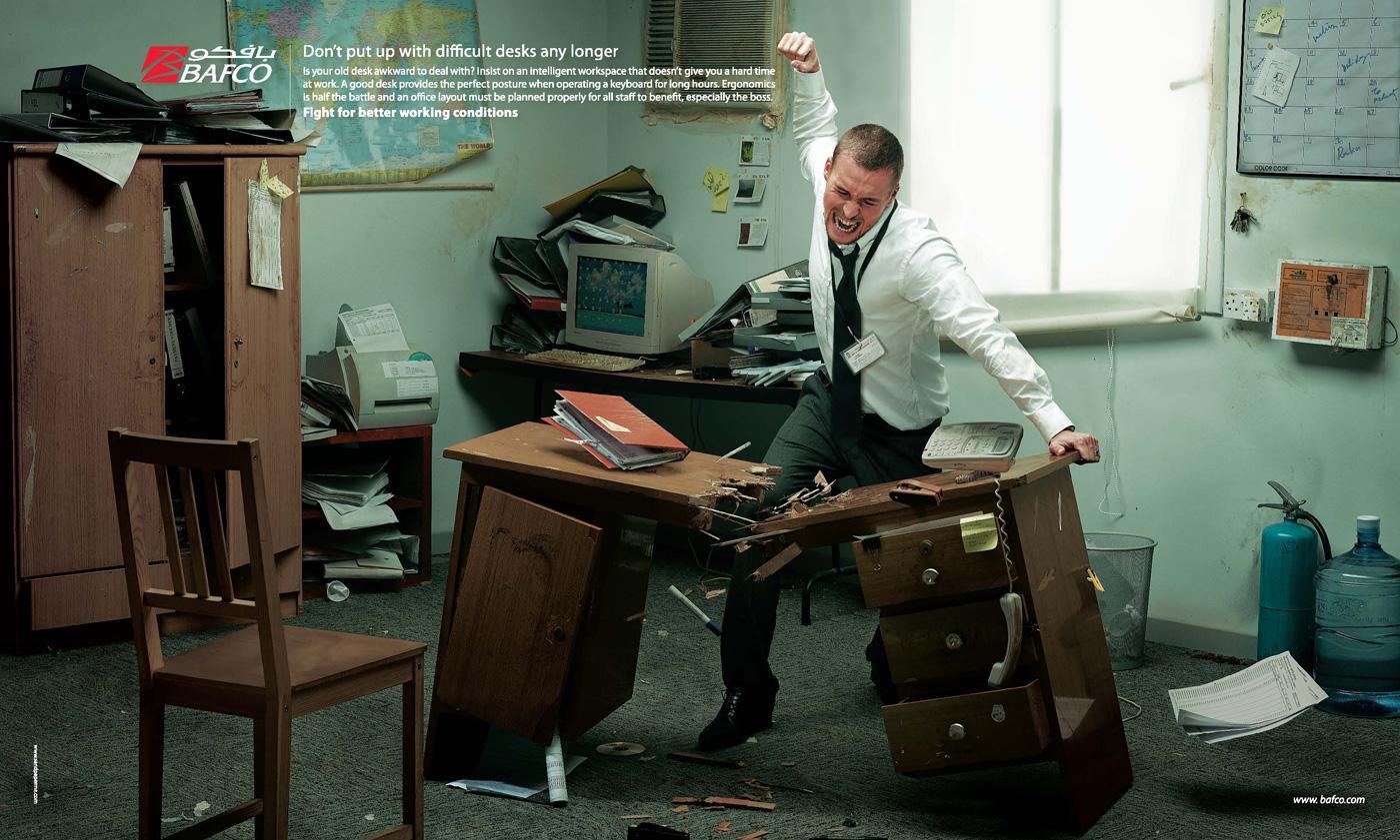 BAFCO Print Ad -  Desk