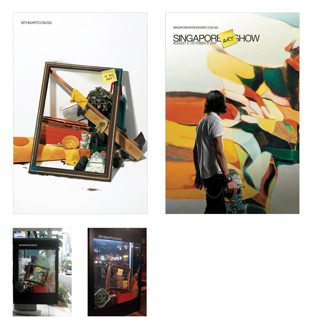 Singapore Art Show Outdoor Ad -  Frame