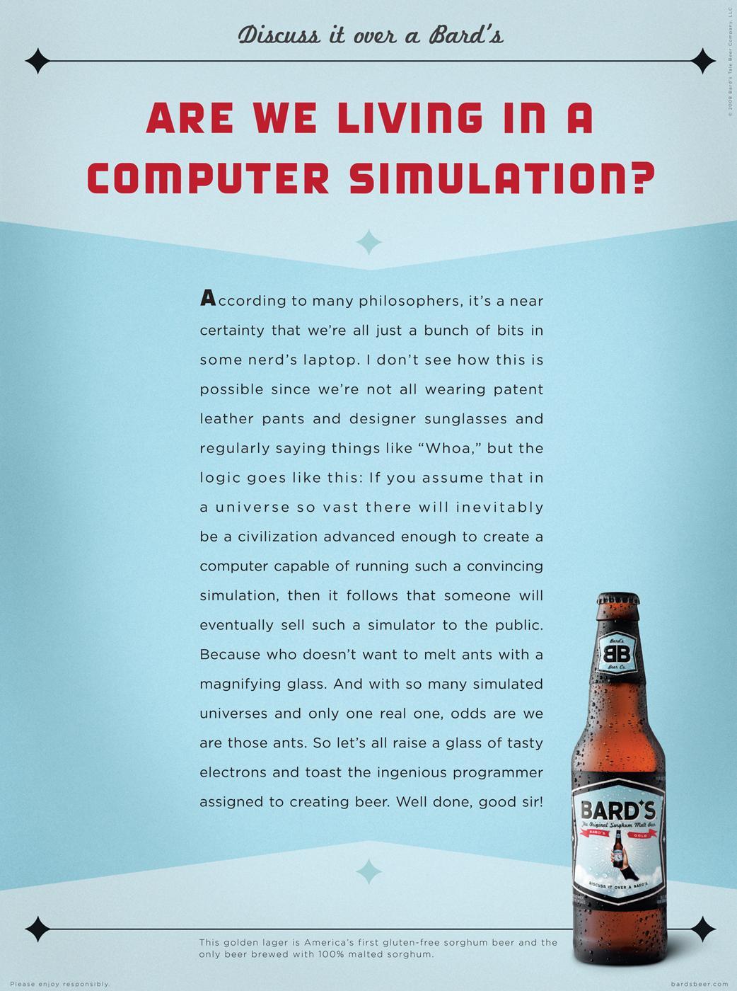 Bard's Print Ad -  Computer Simulation