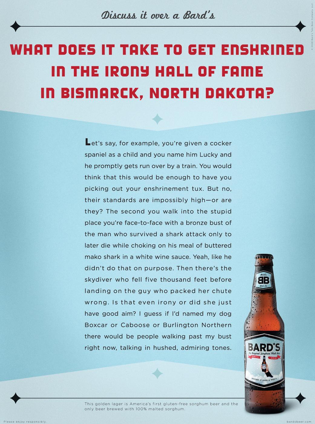 Bard's Print Ad -  Lucky