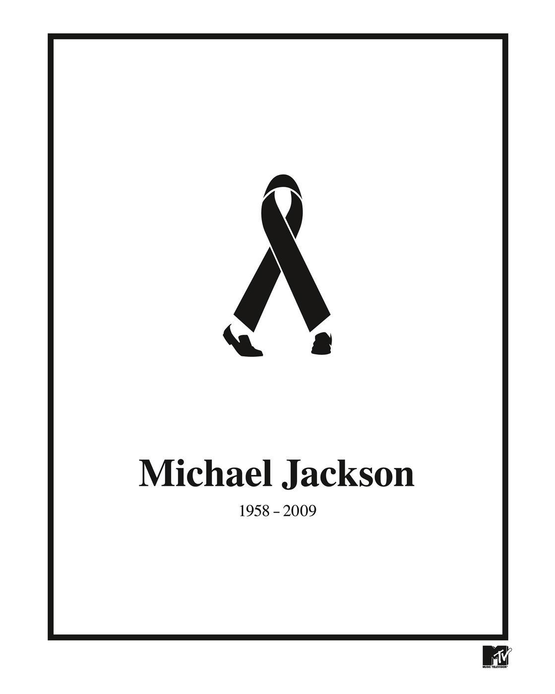 MTV Print Ad -  Black Ribbon Michael Jackson