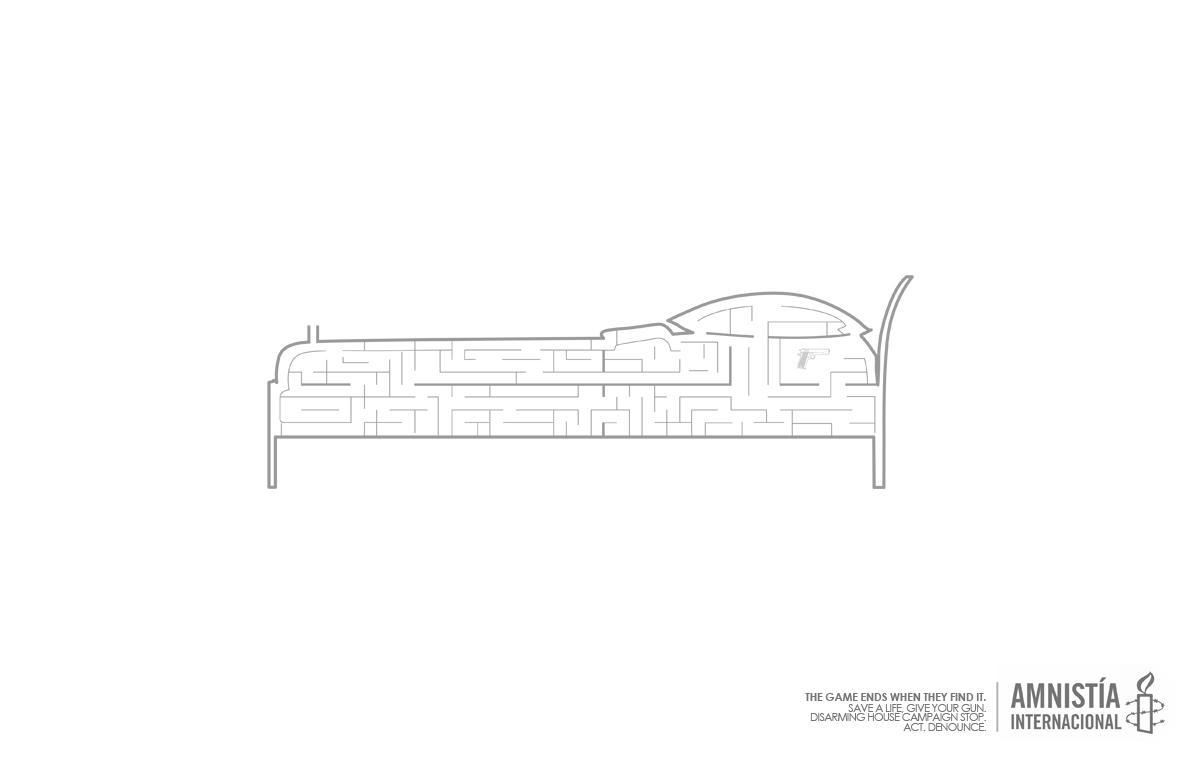 Amnesty International Print Ad -  Bed