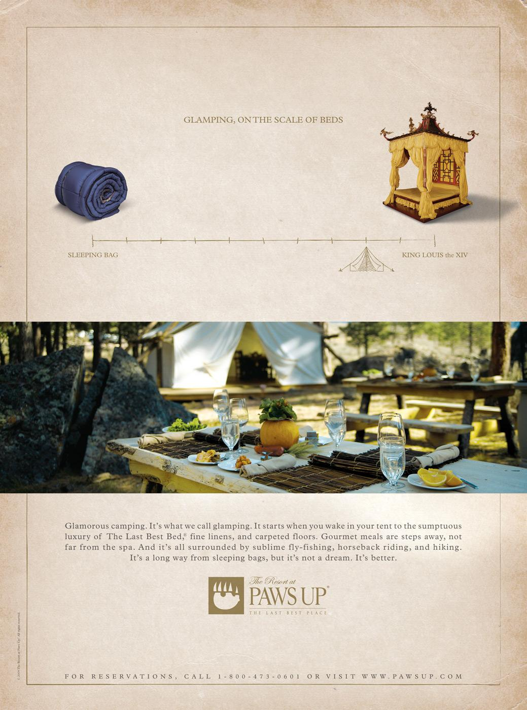 The Resort at Paws Up Print Ad -  Beds
