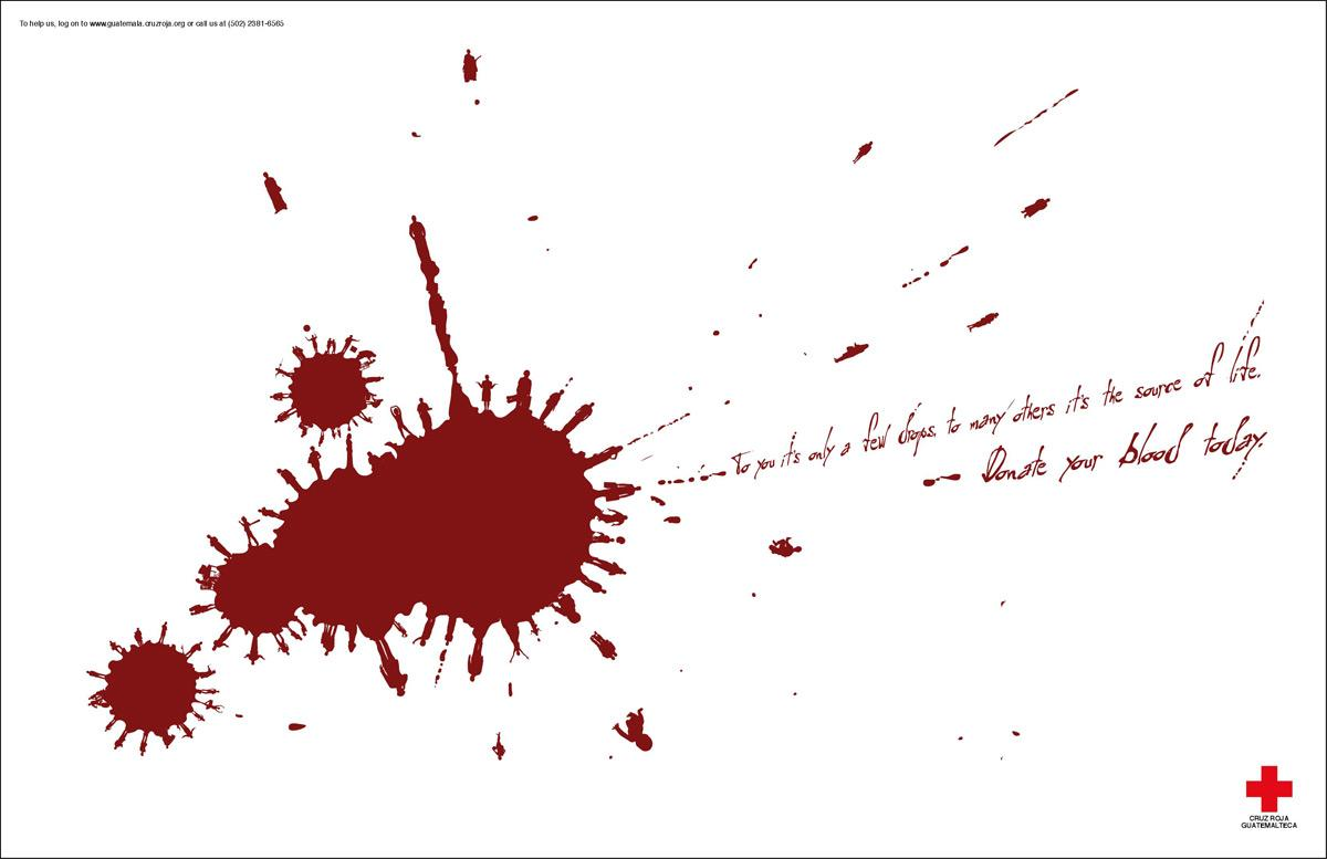 Red Cross Print Ad -  Drops, 1