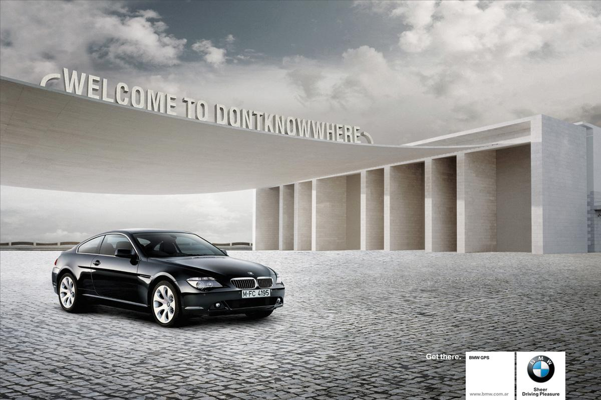 BMW Print Ad -  Welcome to dontknowwhere
