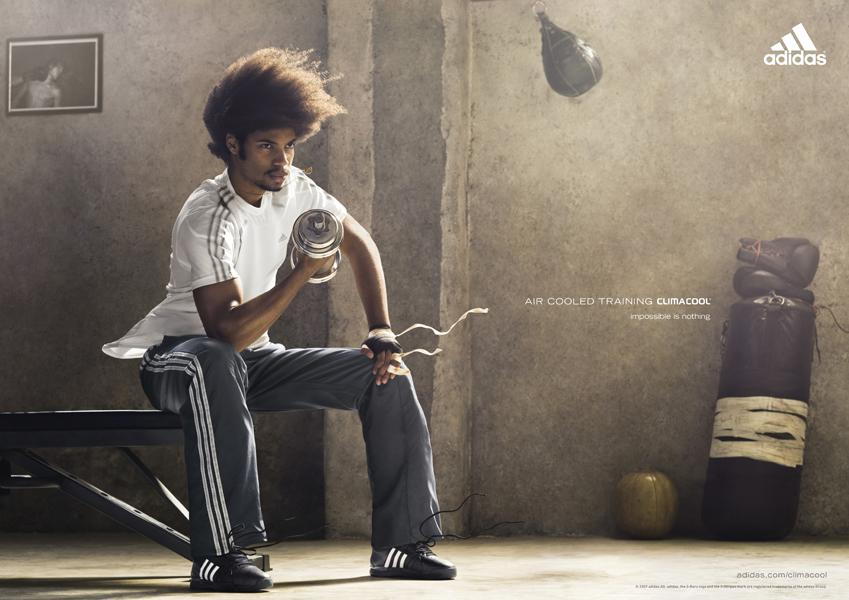 Adidas Print Ad -  Aire cooled training, Boxing
