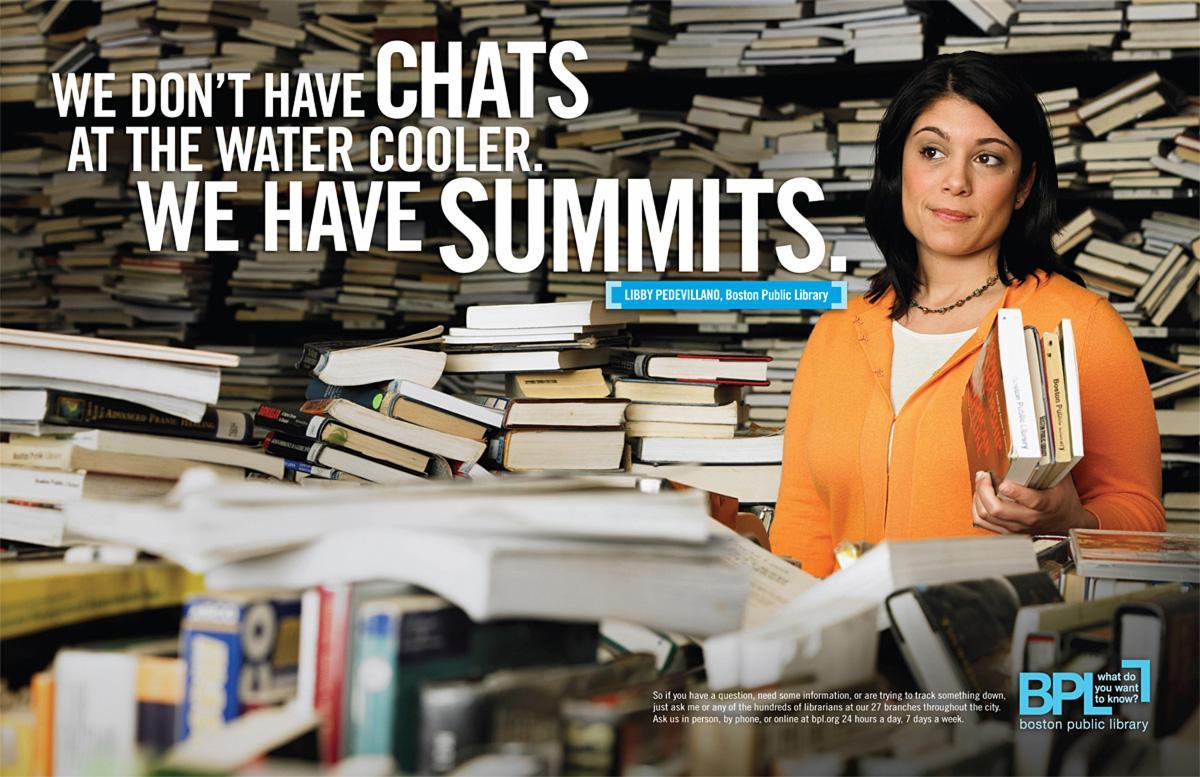 Boston Public Library Print Ad -  Summits