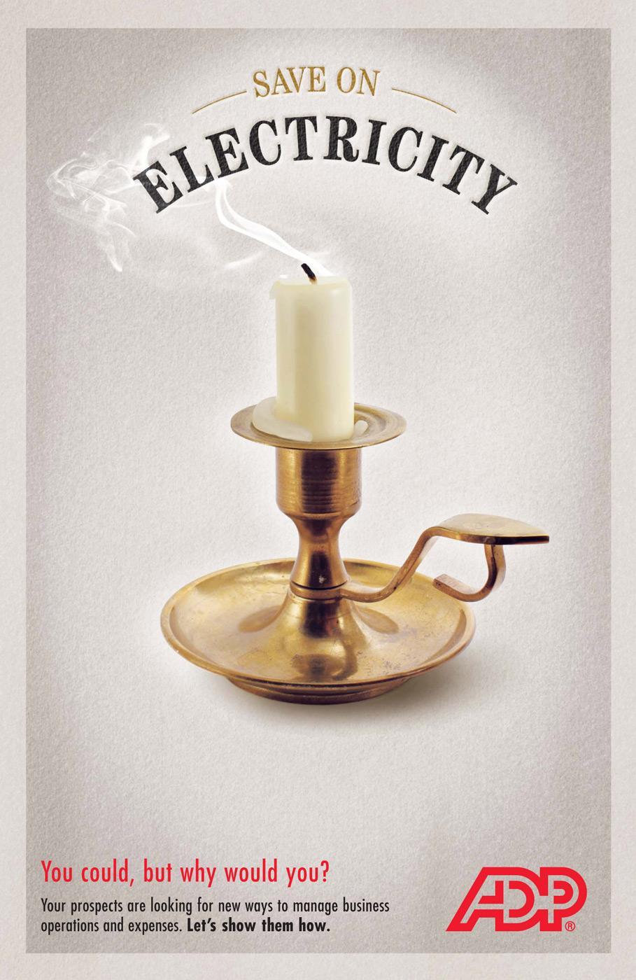 ADP Print Ad -  Candle
