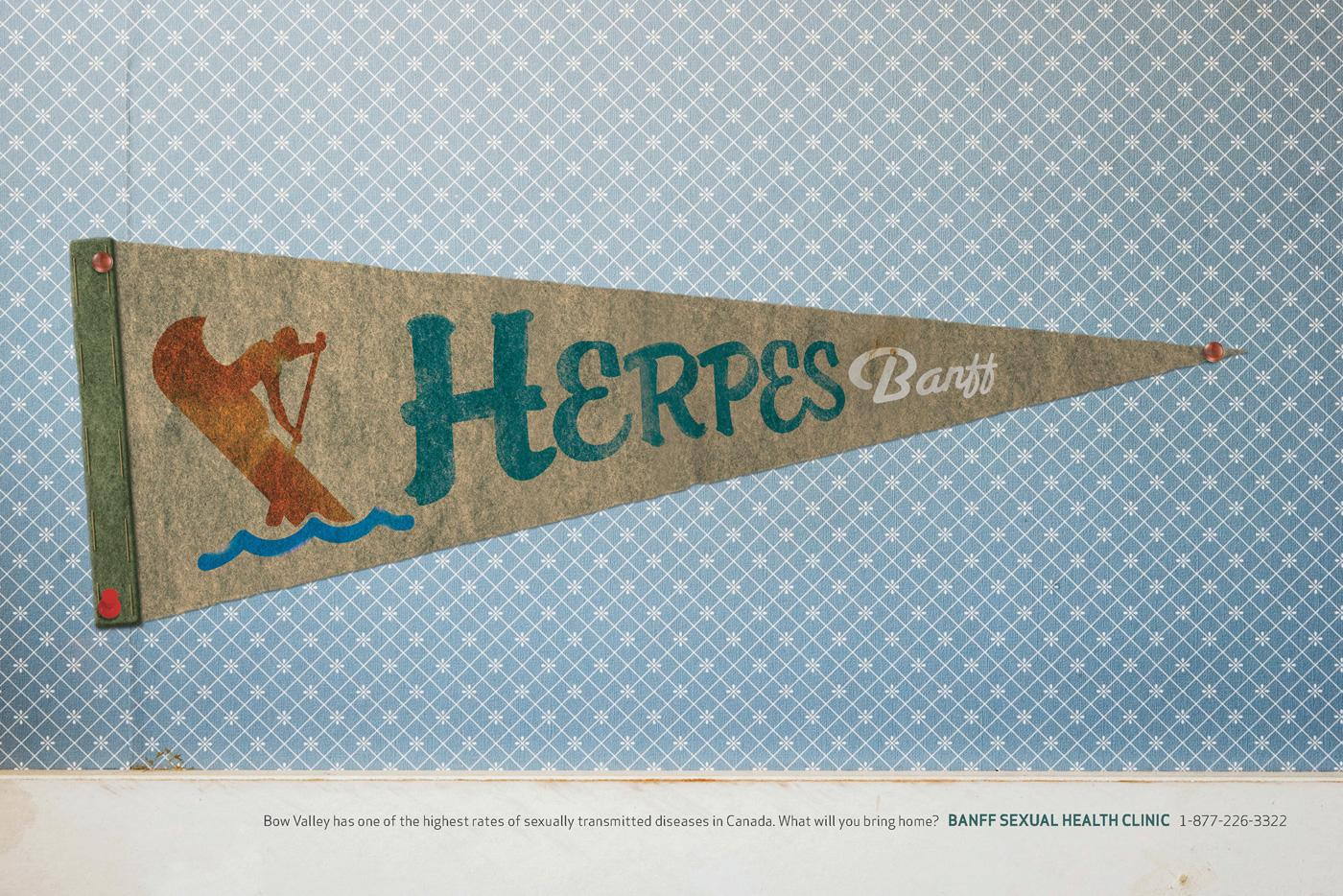 Banff Sexual Health Clinic Print Ad -  Herpes