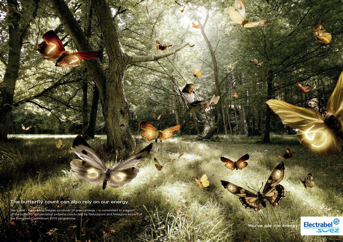 Electrabel Print Ad -  Butterfly
