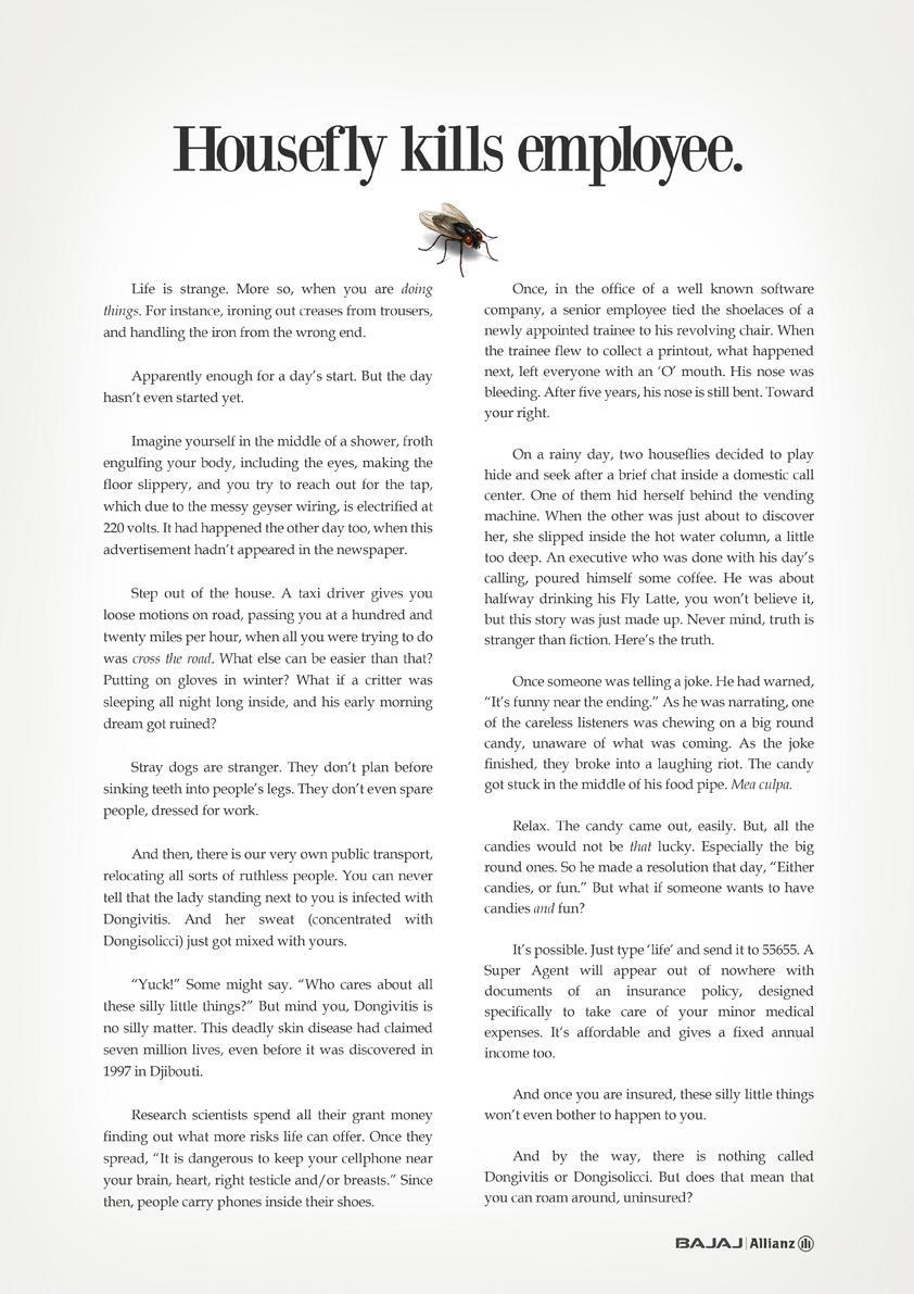 Allianz Print Ad -  Fly