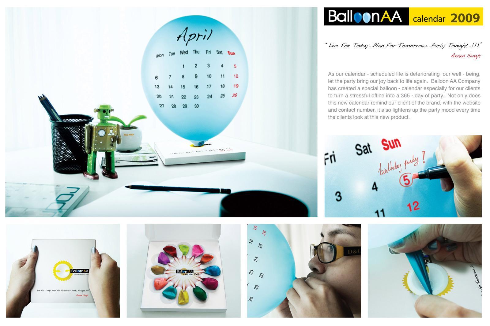 Balloon AA Direct Ad -  Calendar