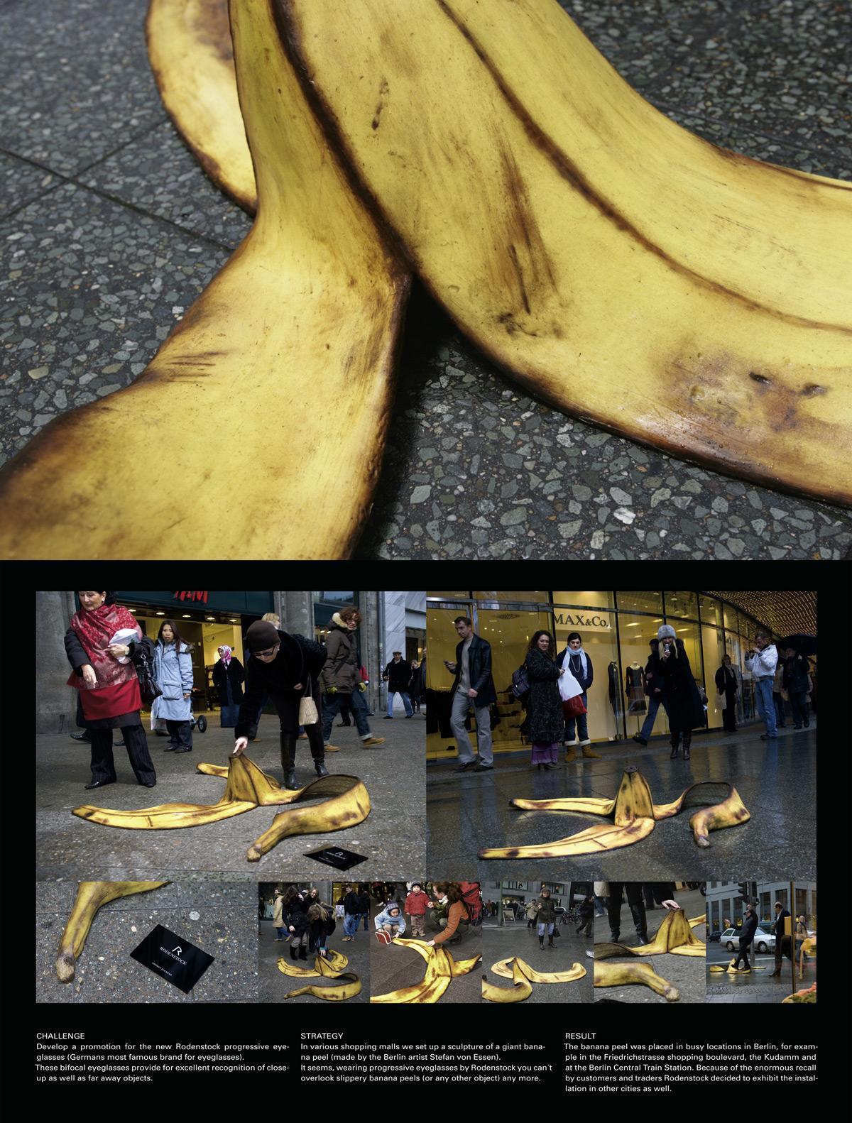 Giant banana peel