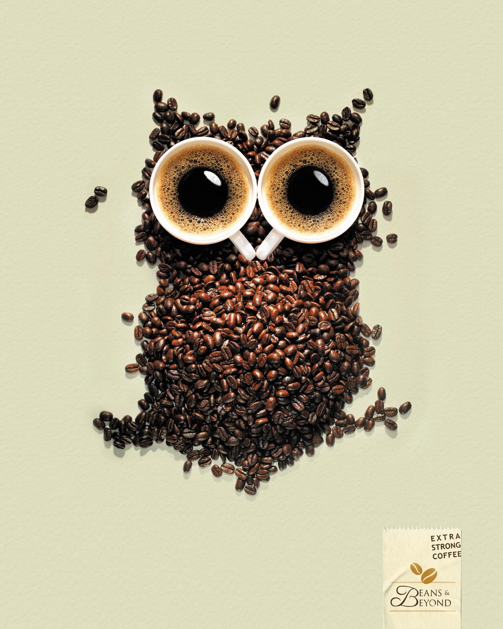 Beans & Beyond Print Ad -  Extra Strong Coffee