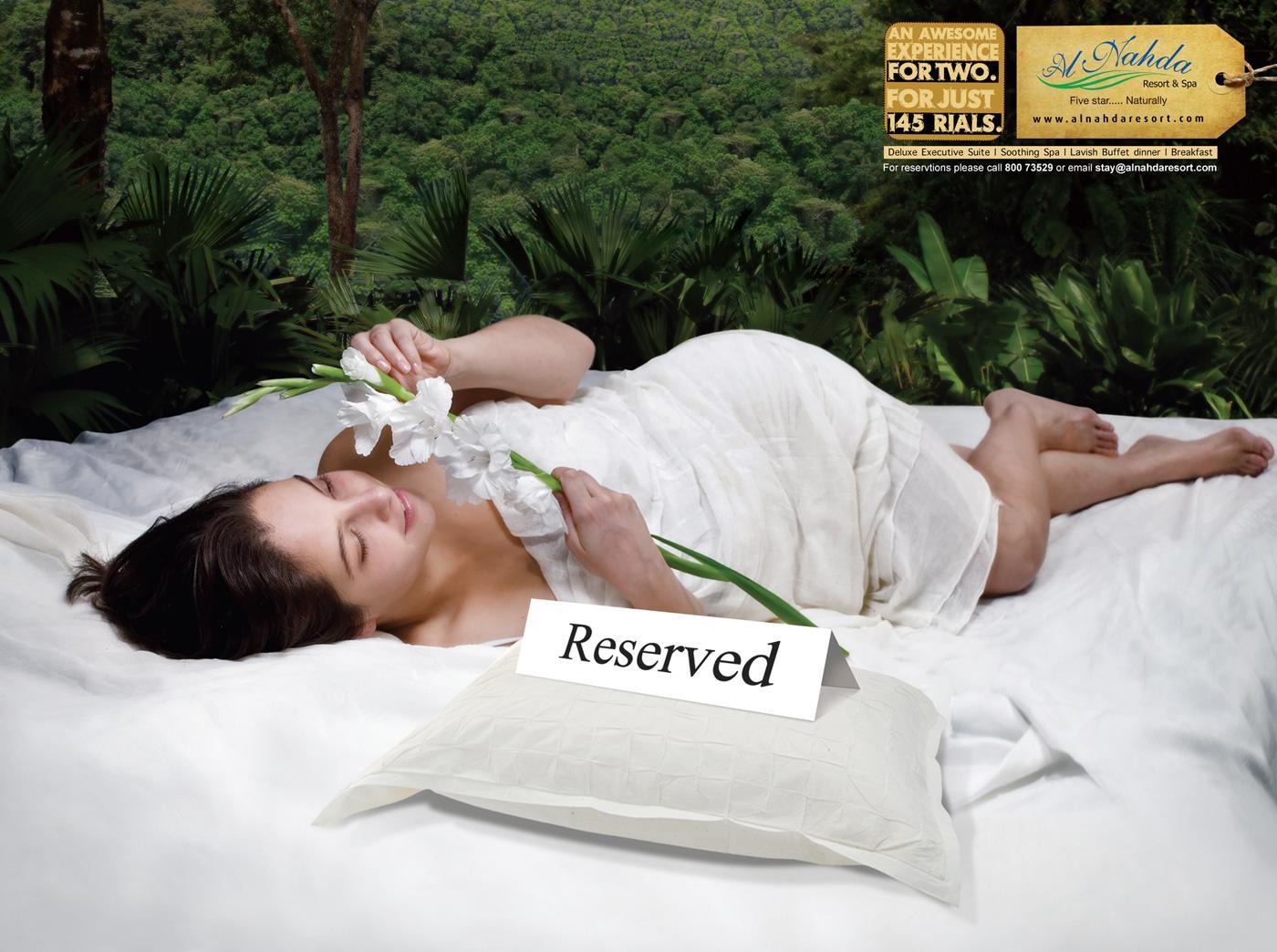 Al Nahda Resort & Spa Print Ad -  Bed