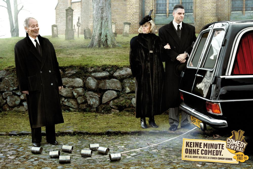 Comedy Central Print Ad -  Funeral