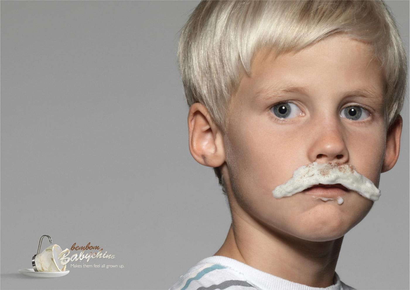 BemBom Print Ad -  Mustache