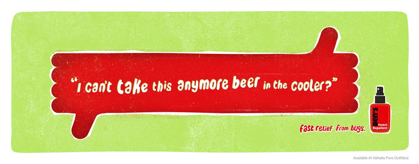 Ben's Insect Repellent Print Ad -  Beer