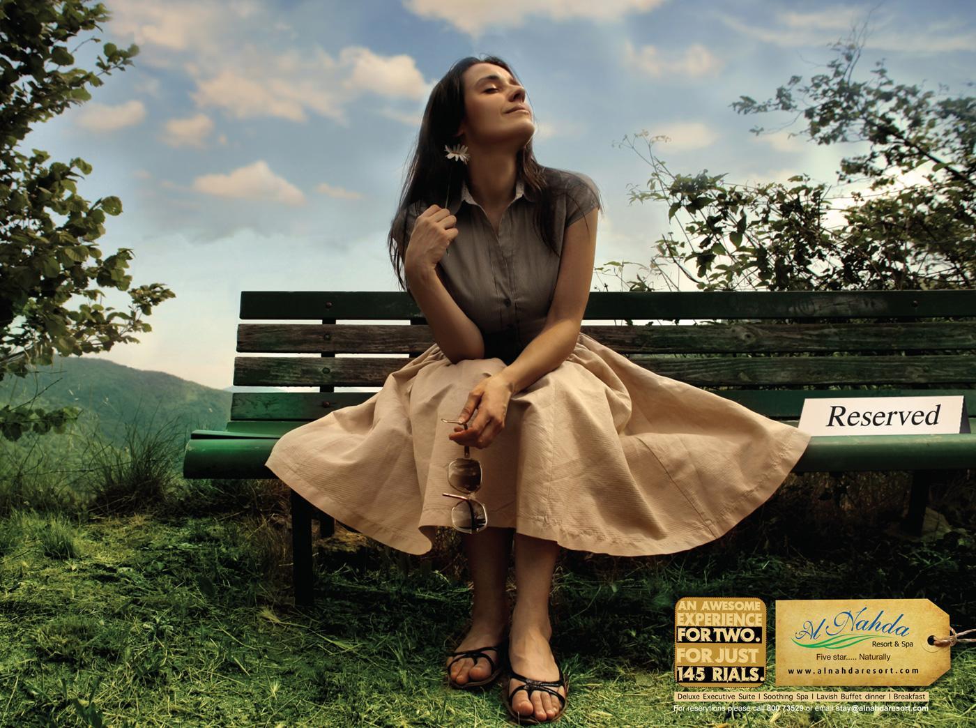 Al Nahda Resort & Spa Print Ad -  Bench