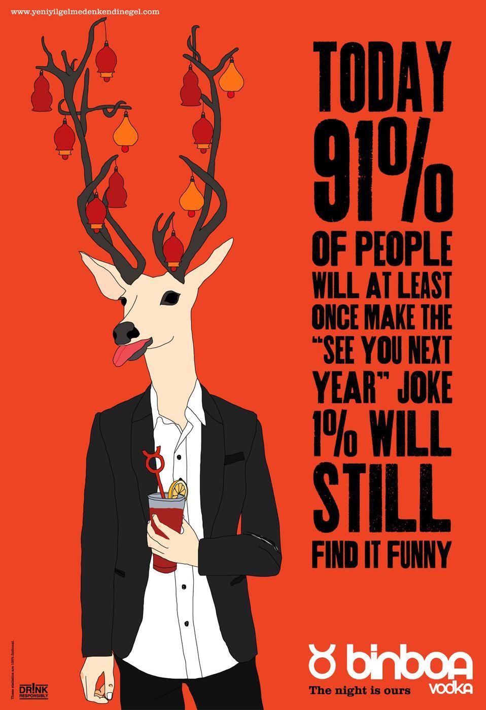 Binboa Vodka Print Ad -  Deer