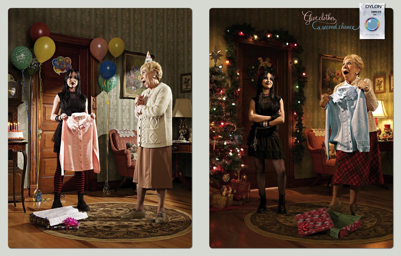 Dylon Print Ad -  Birthday - Christmas