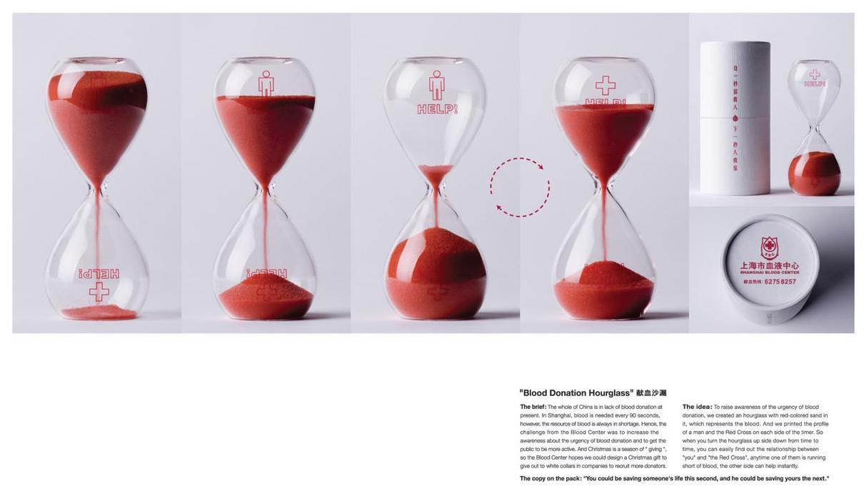 Blood Donation Hourglass