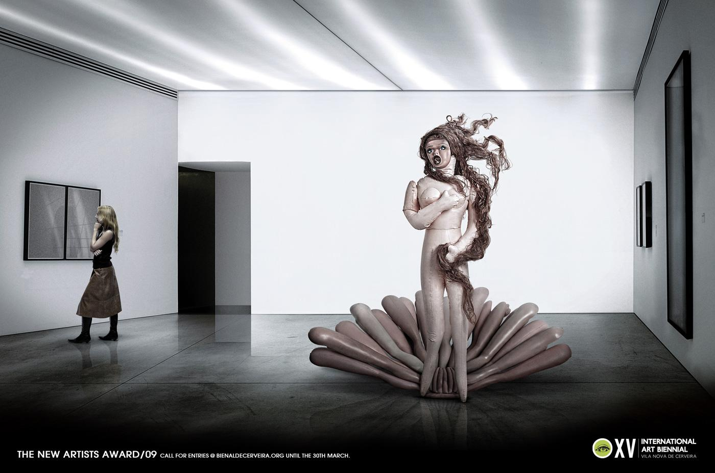 Cerveira Art Biennial Print Ad -  Botticelli