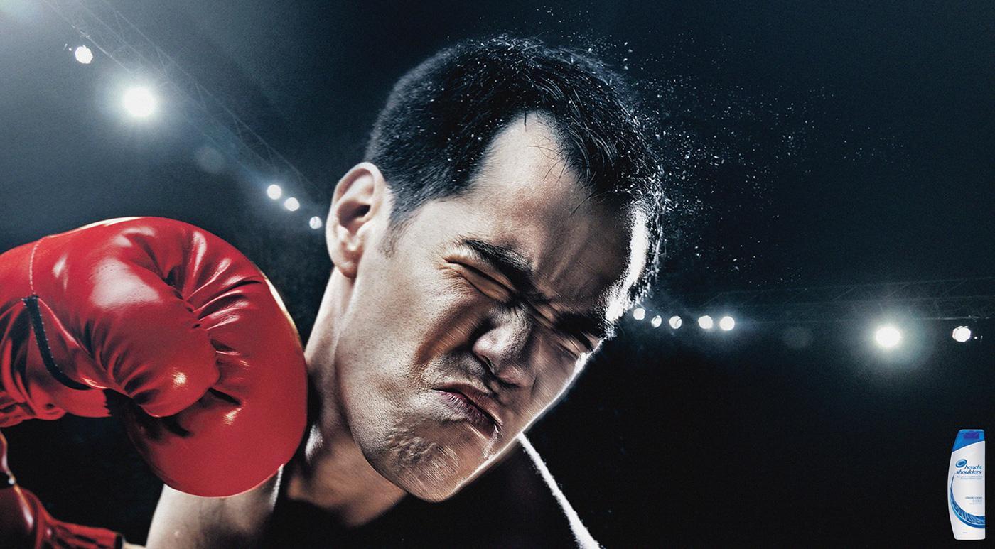 Head & Shoulders Print Ad -  Boxing