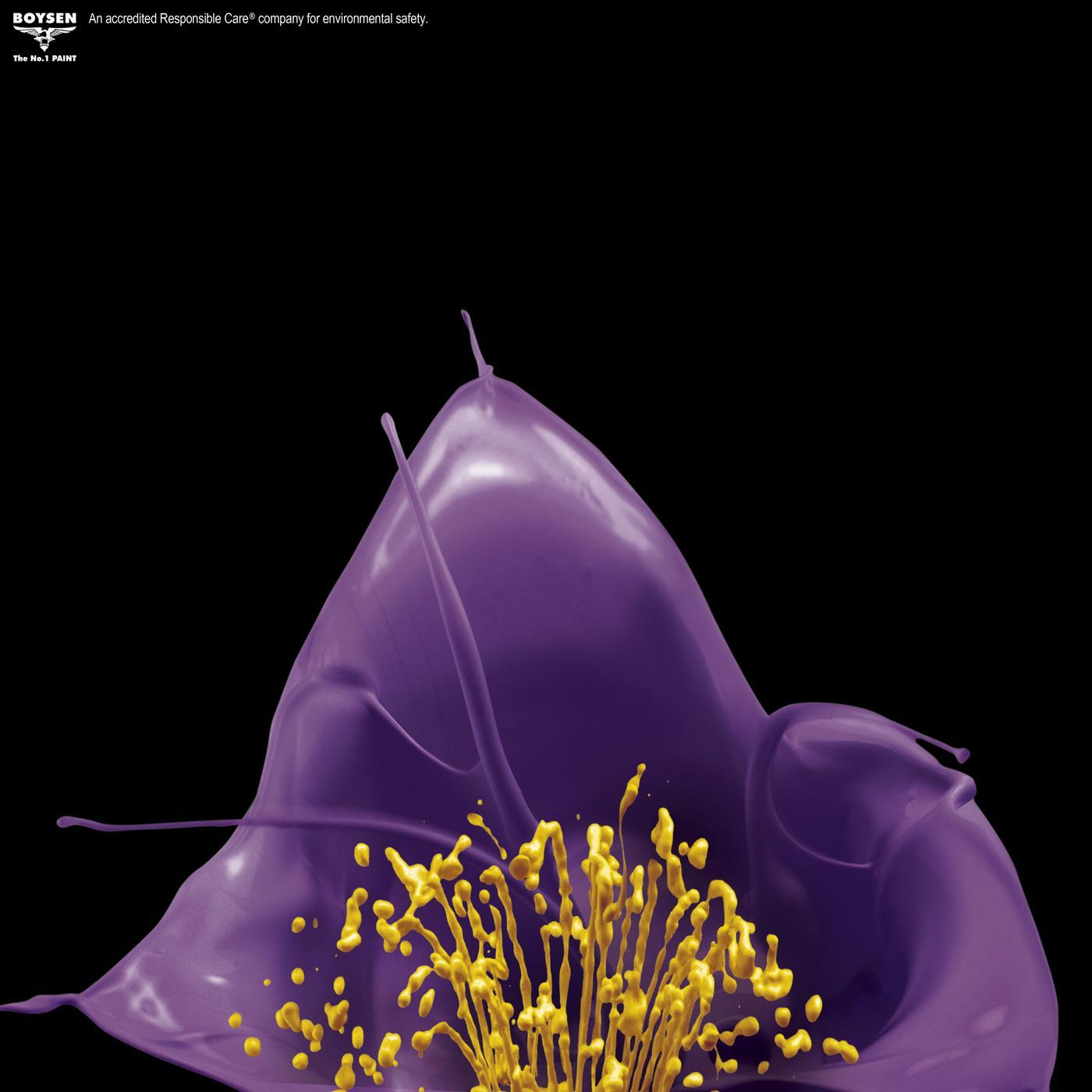 Boysen Print Ad -  Violet