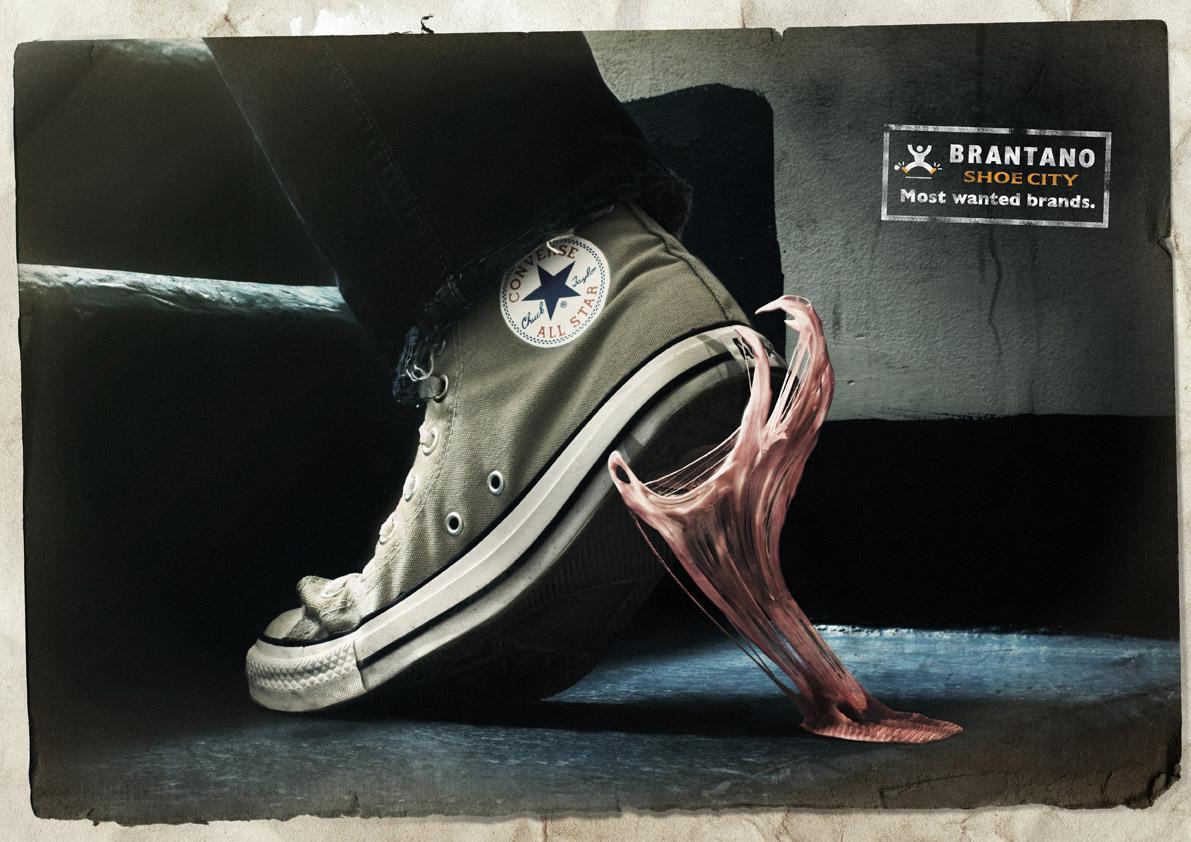 Brantano Shoe City Print Ad -  Chewing gum