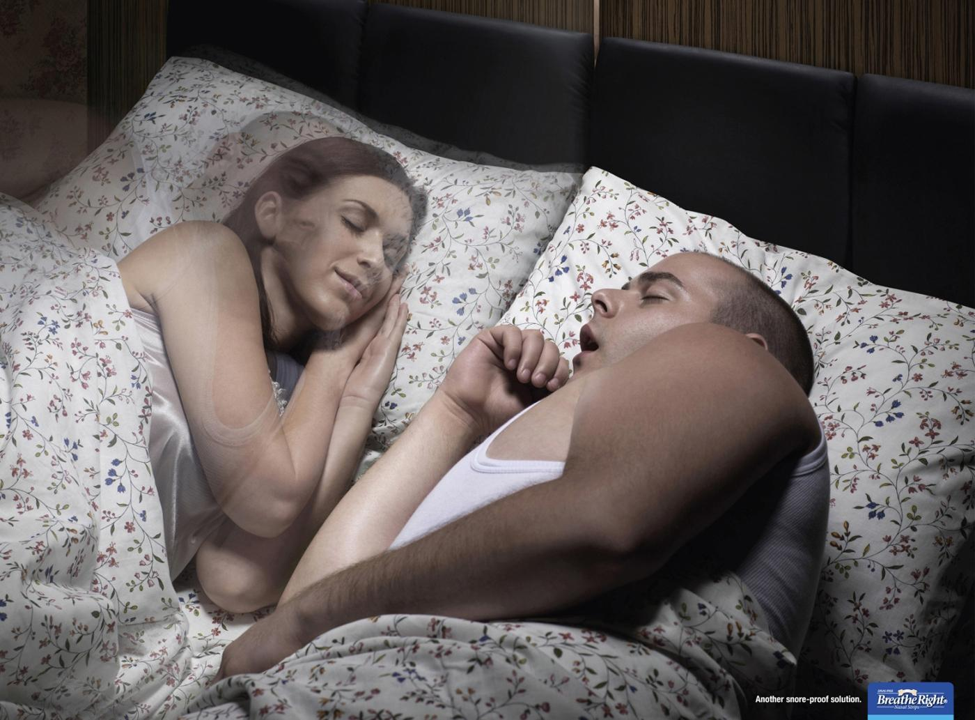 Breathe Right Print Ad -  Bed