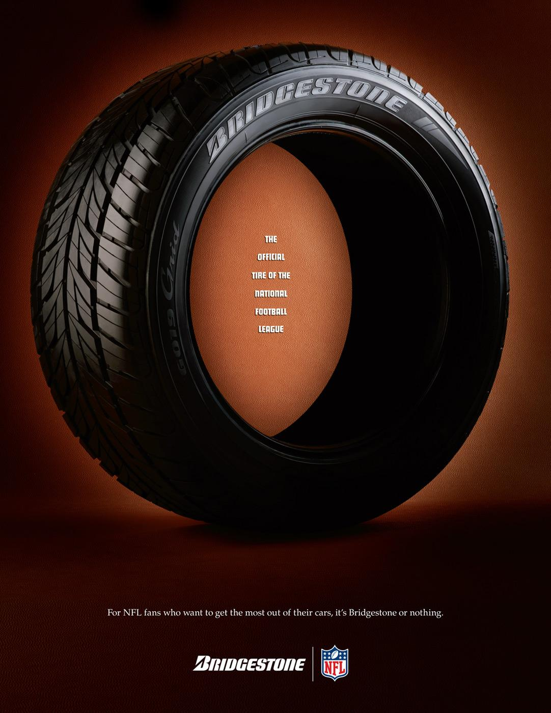 Bridgestone Print Ad -  Official Tire of the NFL