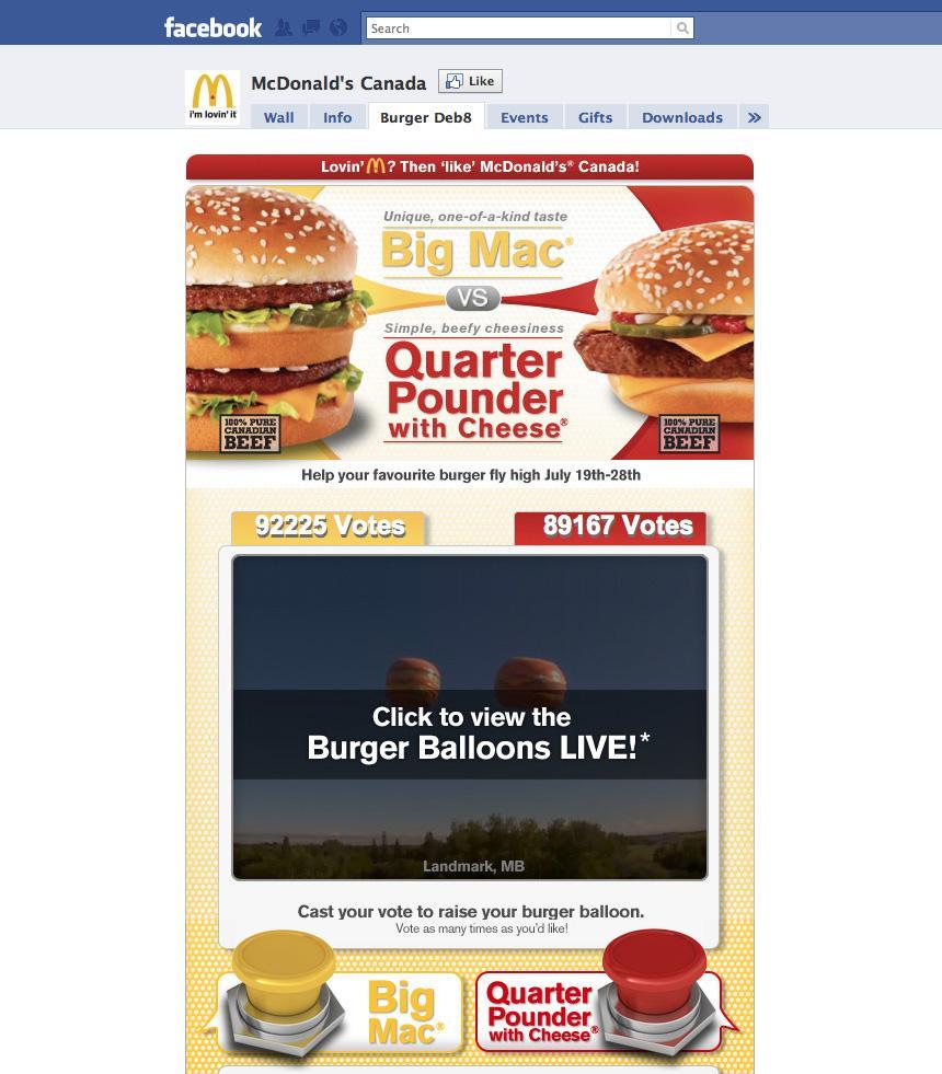 McDonald's Digital Ad -  Facebook Burger Deb8