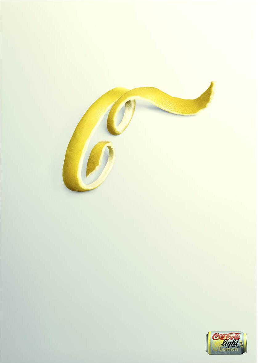 Coca-Cola Print Ad -  Lemon Peel