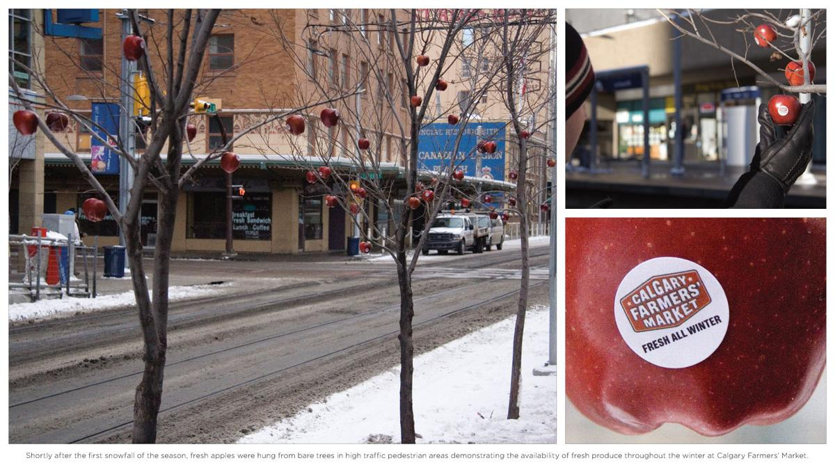 Calgary Farmers' Market Ambient Ad -  Apples