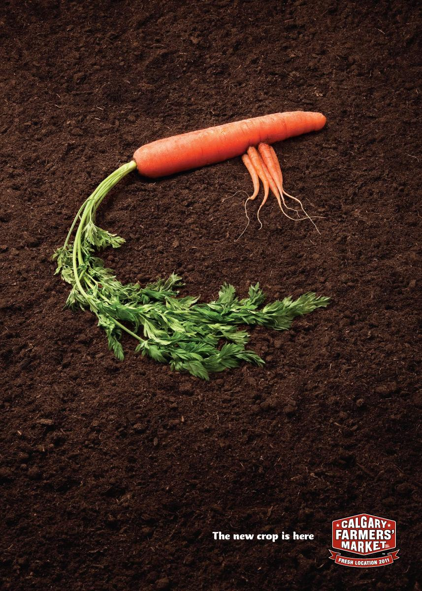 Calgary Farmers' Market Print Ad -  Carrots